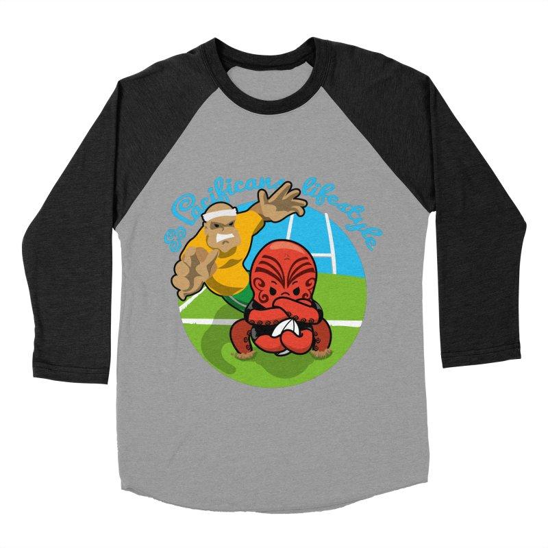 Heke Black Men's Baseball Triblend Longsleeve T-Shirt by Pacificans' Artist Shop