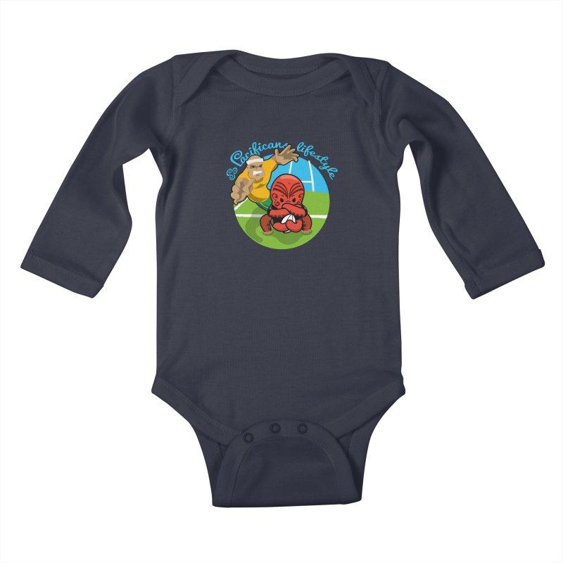 Heke Black Kids Baby Longsleeve Bodysuit by Pacificans' Artist Shop