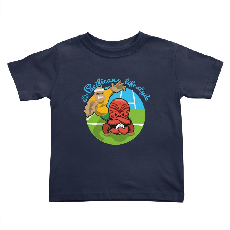 Heke Black Kids Toddler T-Shirt by Pacificans' Artist Shop