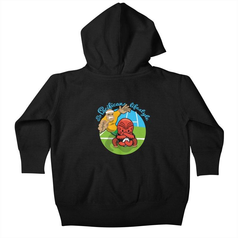 Heke Black Kids Baby Zip-Up Hoody by Pacificans' Artist Shop