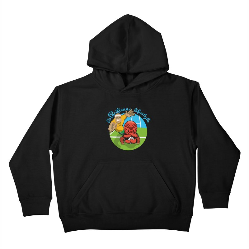 Heke Black Kids Pullover Hoody by Pacificans' Artist Shop