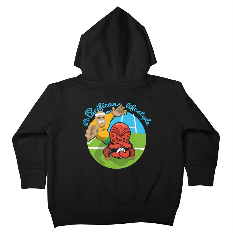 Heke Black Kids Toddler Zip-Up Hoody by Pacificans' Artist Shop