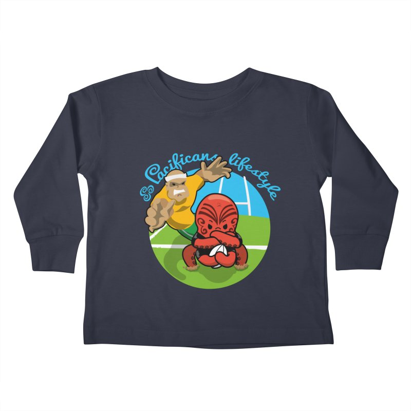 Heke Black Kids Toddler Longsleeve T-Shirt by Pacificans' Artist Shop
