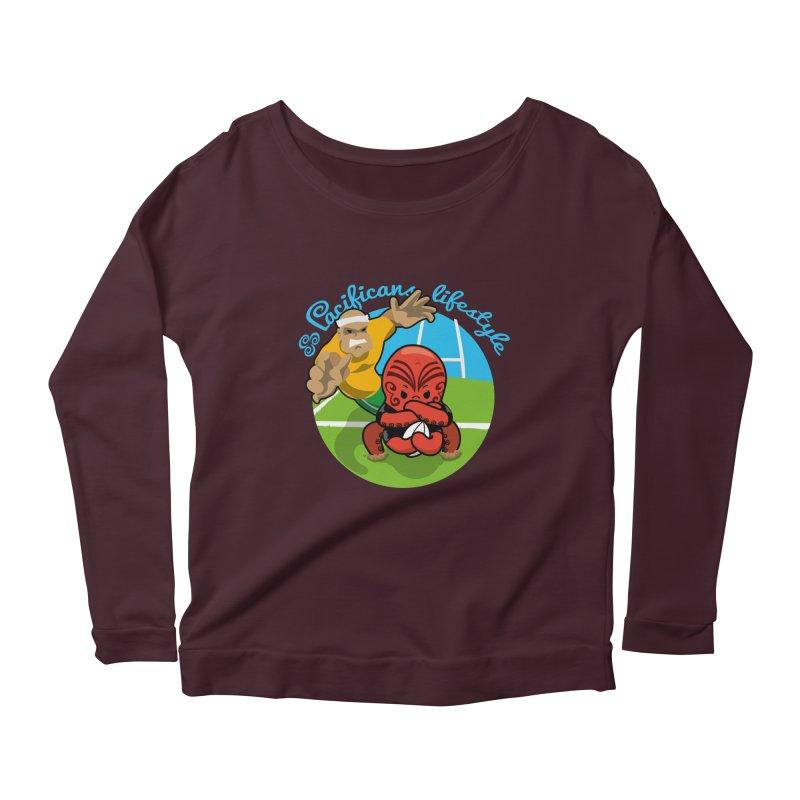 Heke Black Women's Scoop Neck Longsleeve T-Shirt by Pacificans' Artist Shop