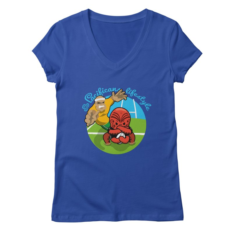 Heke Black Women's V-Neck by Pacificans' Artist Shop