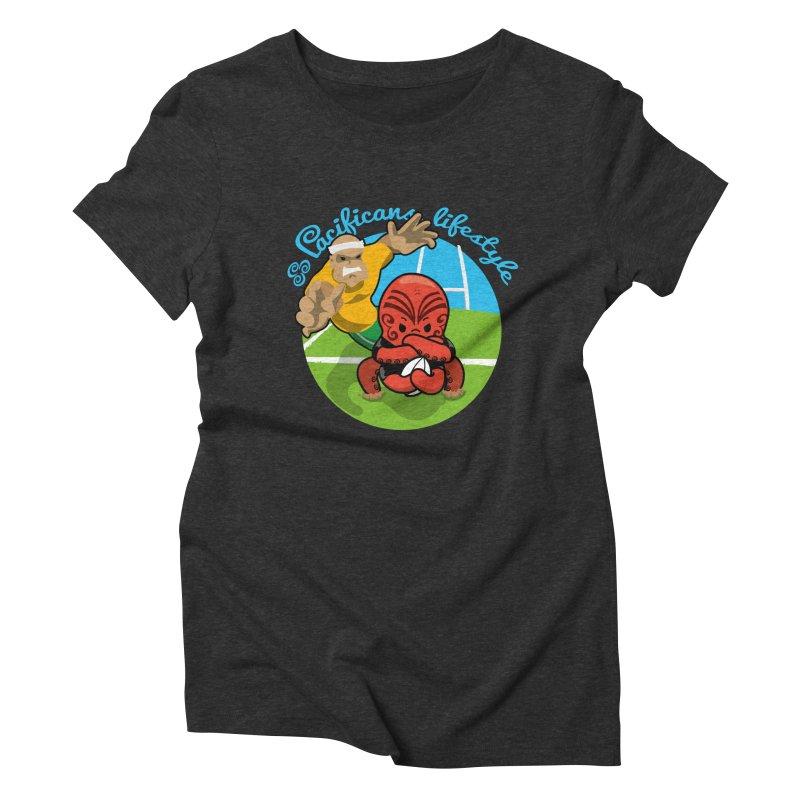 Heke Black Women's Triblend T-Shirt by Pacificans' Artist Shop