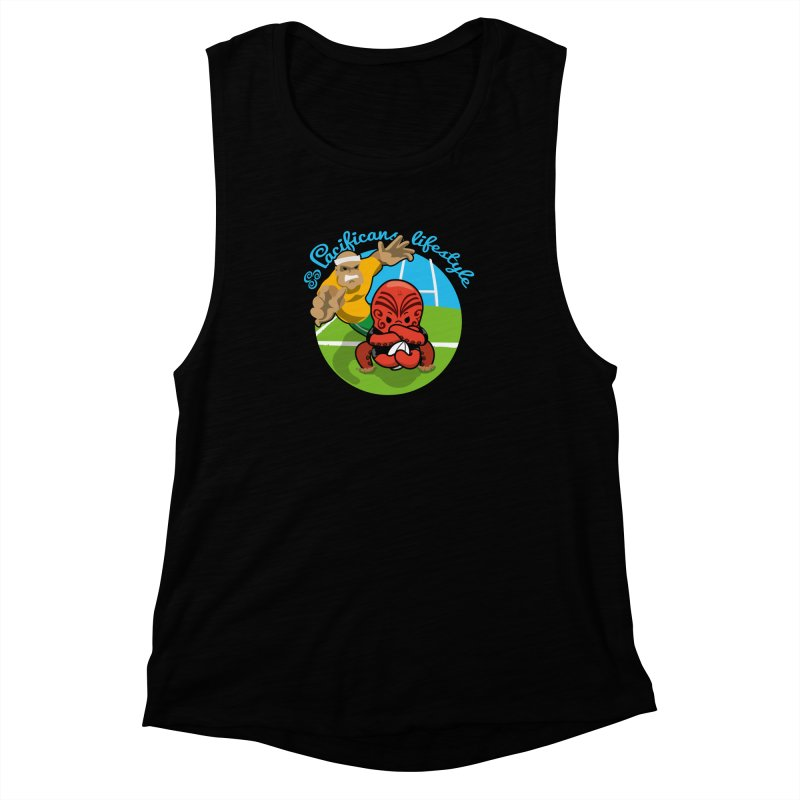 Heke Black Women's Muscle Tank by Pacificans' Artist Shop