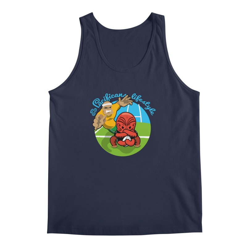 Heke Black Men's Tank by Pacificans' Artist Shop