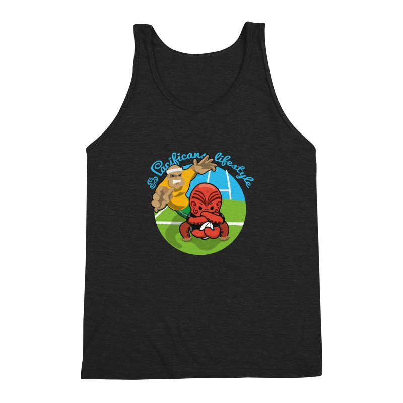 Heke Black Men's Triblend Tank by Pacificans' Artist Shop