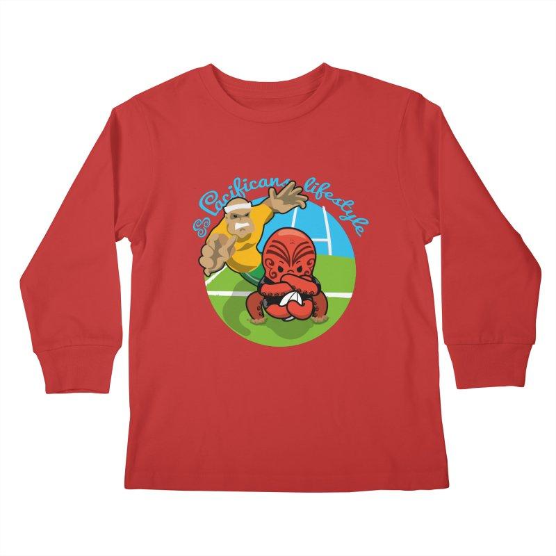 Heke Black Kids Longsleeve T-Shirt by Pacificans' Artist Shop