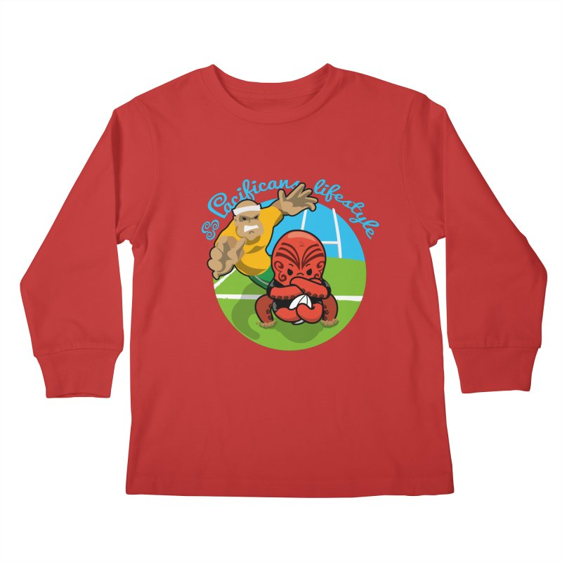 Heke Black Kids Longsleeve T-Shirt by Pacificans' Artist Shop