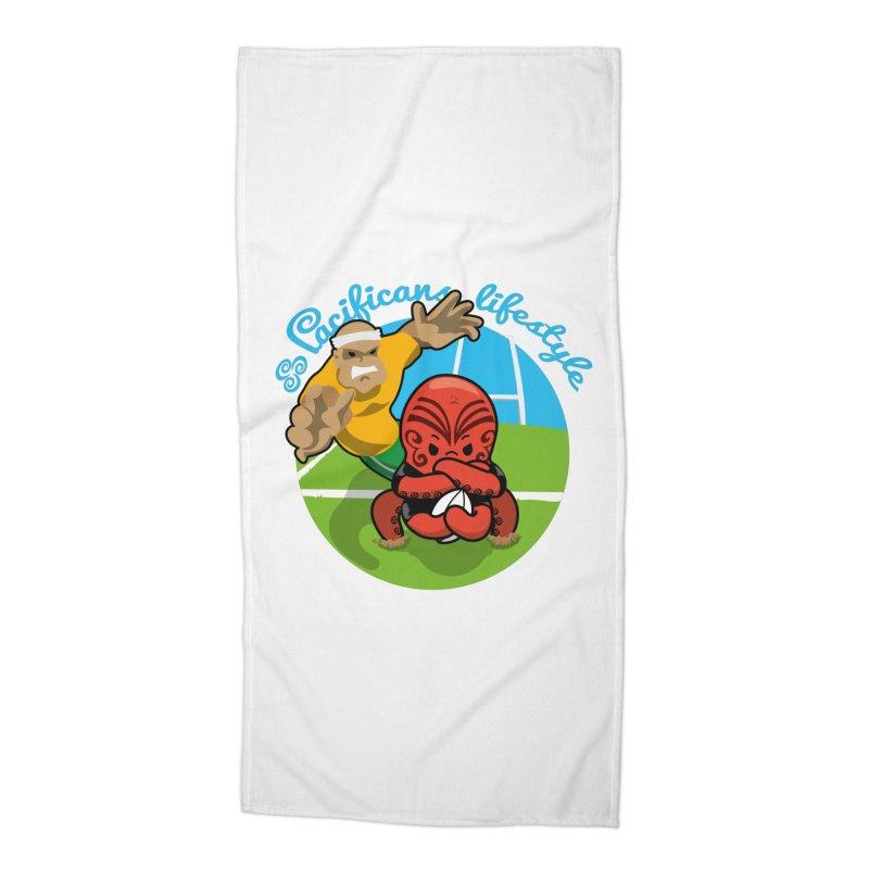 Heke Black Accessories Beach Towel by Pacificans' Artist Shop