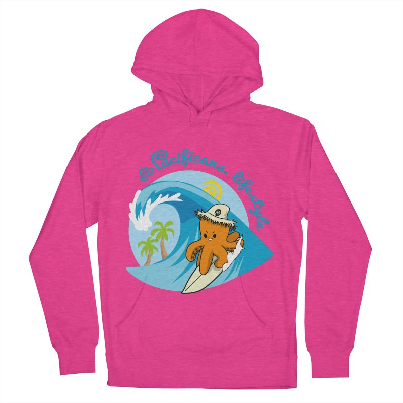 Heke Surfin' Women's Pullover Hoody by Pacificans' Artist Shop