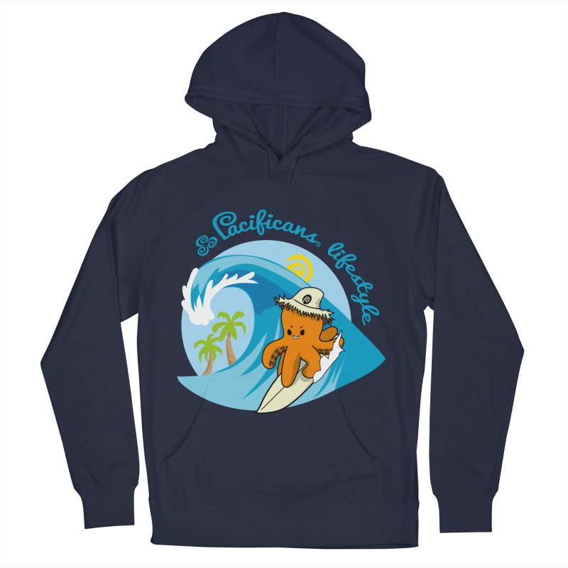 Heke Surfin' Men's Pullover Hoody by Pacificans' Artist Shop