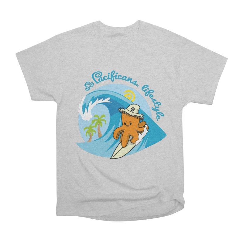 Heke Surfin' Women's Heavyweight Unisex T-Shirt by Pacificans' Artist Shop