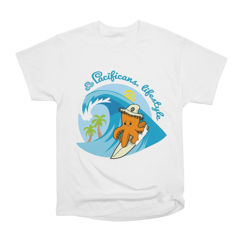 Heke Surfin' Women's Heavyweight Unisex T-Shirt by Pacificans' Artist Shop