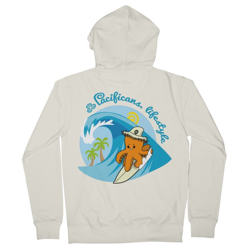 Heke Surfin' Women's French Terry Zip-Up Hoody by Pacificans' Artist Shop