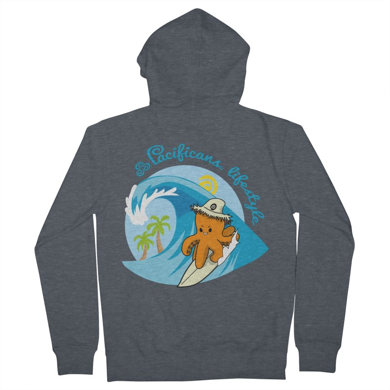 Heke Surfin' Men's French Terry Zip-Up Hoody by Pacificans' Artist Shop