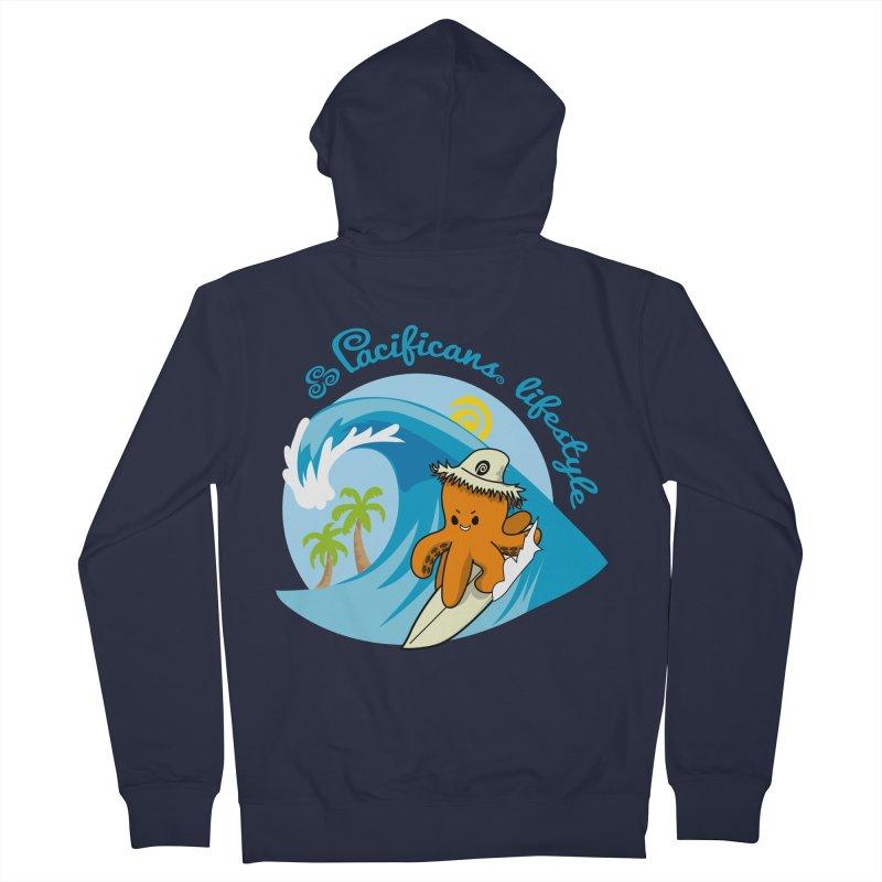 Heke Surfin' Men's Zip-Up Hoody by Pacificans' Artist Shop