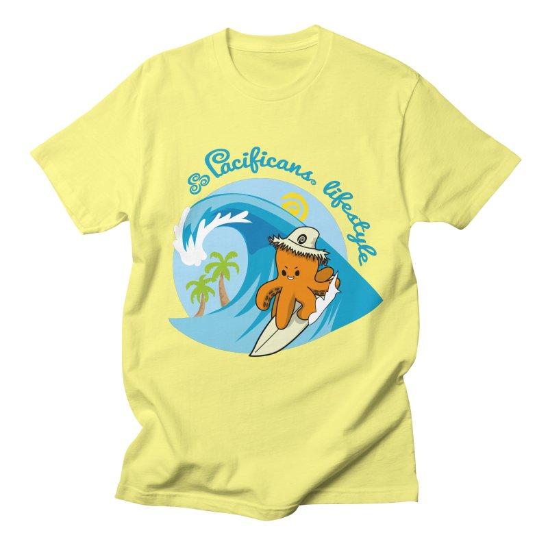 Heke Surfin' Men's T-Shirt by Pacificans' Artist Shop