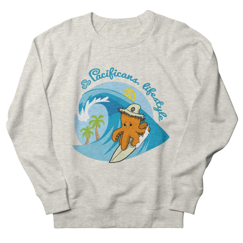 Heke Surfin' Women's French Terry Sweatshirt by Pacificans' Artist Shop