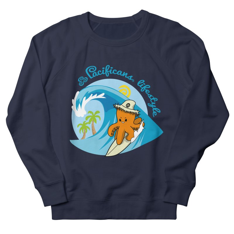 Heke Surfin' Men's French Terry Sweatshirt by Pacificans' Artist Shop