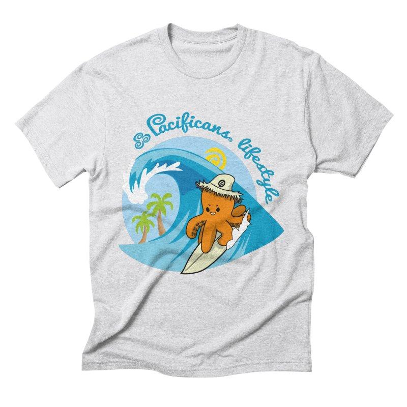 Heke Surfin' Men's Triblend T-shirt by Pacificans' Artist Shop