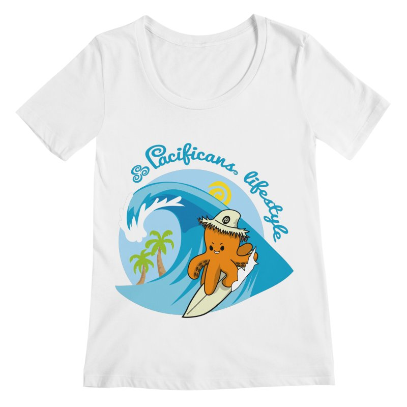 Heke Surfin' Women's Scoopneck by Pacificans' Artist Shop