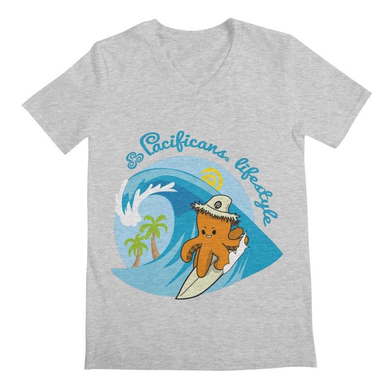 Heke Surfin' Men's V-Neck by Pacificans' Artist Shop