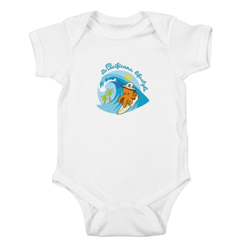 Heke Surfin' Kids Baby Bodysuit by Pacificans' Artist Shop
