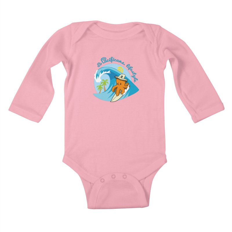Heke Surfin' Kids Baby Longsleeve Bodysuit by Pacificans' Artist Shop
