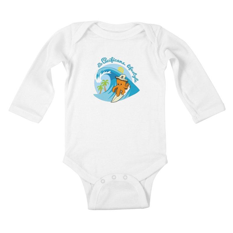 Heke Surfin' Kids Baby Longsleeve Bodysuit by Pacificans' Artist Shop