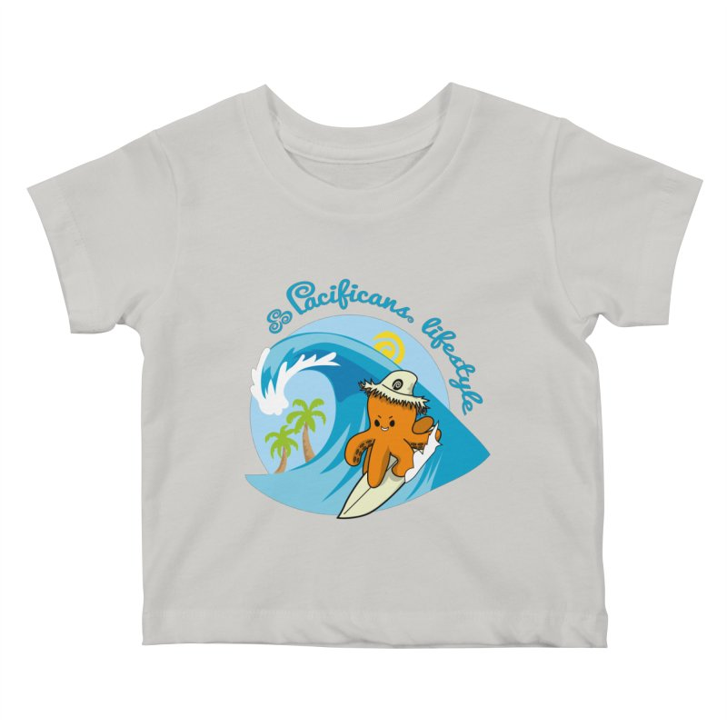 Heke Surfin' Kids Baby T-Shirt by Pacificans' Artist Shop
