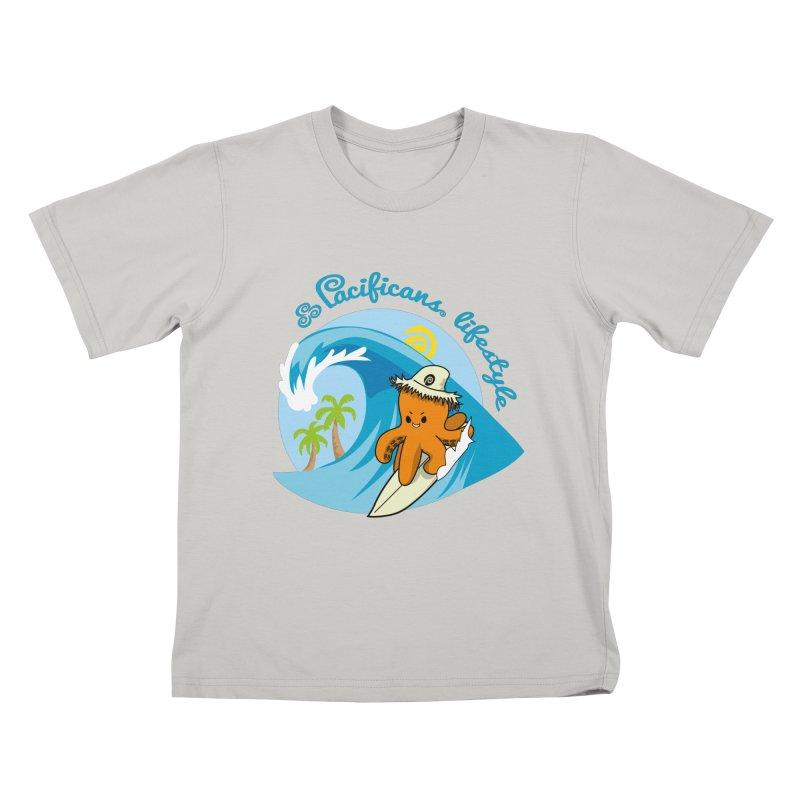 Heke Surfin' Kids T-shirt by Pacificans' Artist Shop