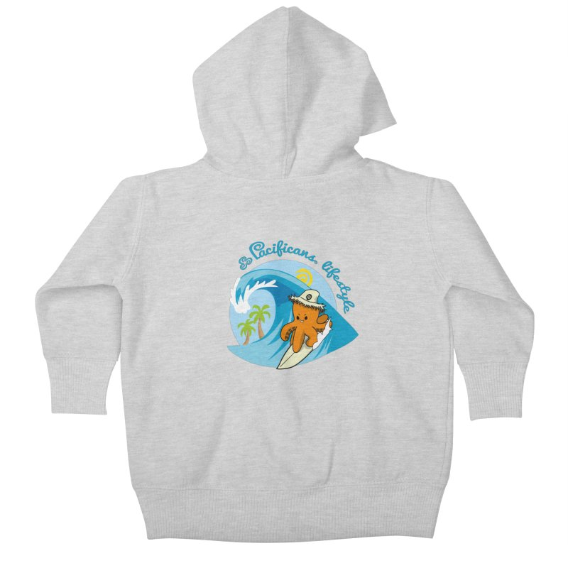 Heke Surfin' Kids Baby Zip-Up Hoody by Pacificans' Artist Shop