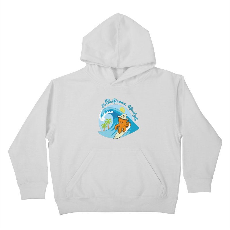 Heke Surfin' Kids Pullover Hoody by Pacificans' Artist Shop