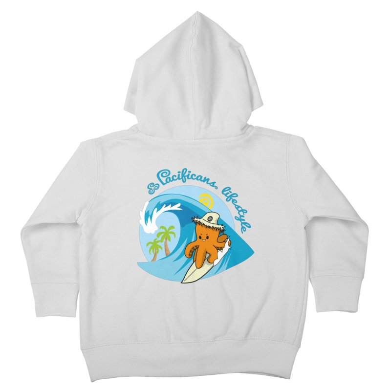 Heke Surfin' Kids Toddler Zip-Up Hoody by Pacificans' Artist Shop