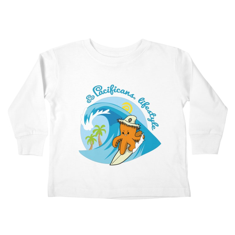 Heke Surfin' Kids Toddler Longsleeve T-Shirt by Pacificans' Artist Shop
