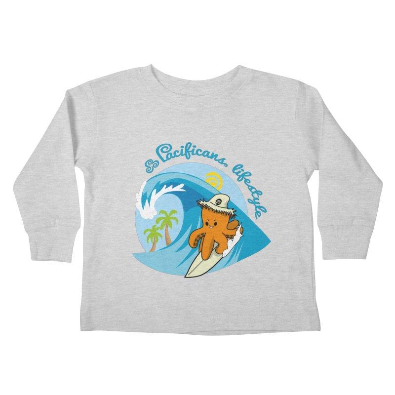 Heke Surfin' Kids Toddler Longsleeve T-Shirt by Pacificans' Artist Shop