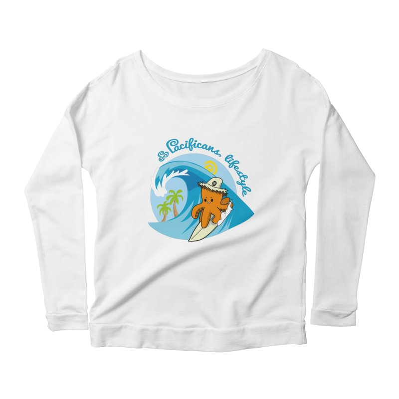 Heke Surfin' Women's Scoop Neck Longsleeve T-Shirt by Pacificans' Artist Shop