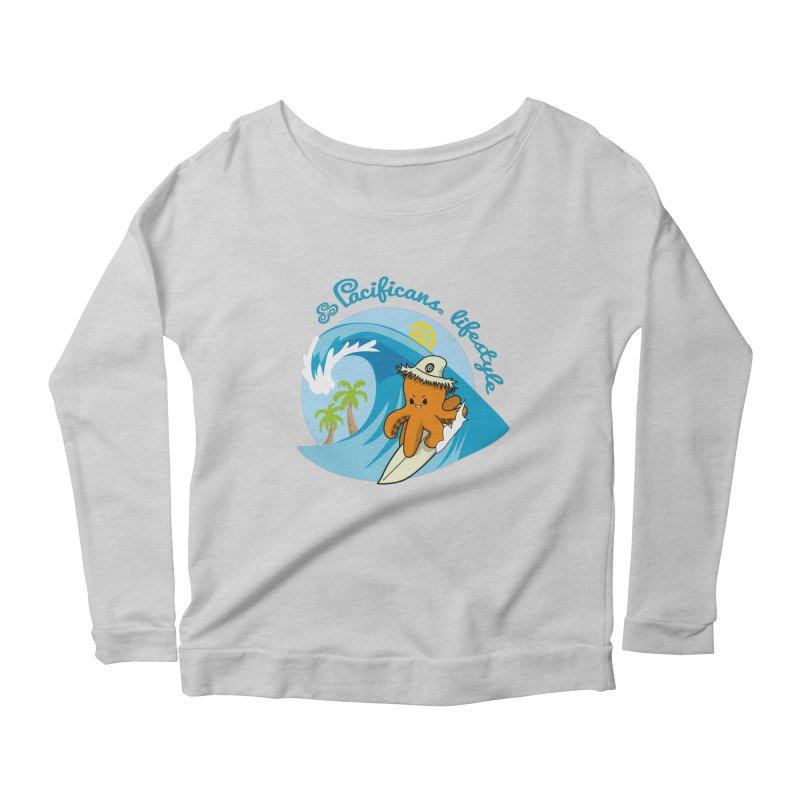 Heke Surfin' Women's Scoop Neck Longsleeve T-Shirt by Pacificans' Artist Shop