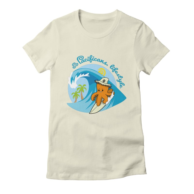 Heke Surfin' Women's Fitted T-Shirt by Pacificans' Artist Shop