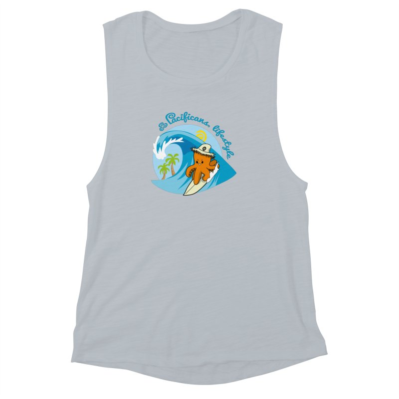 Heke Surfin' Women's Muscle Tank by Pacificans' Artist Shop