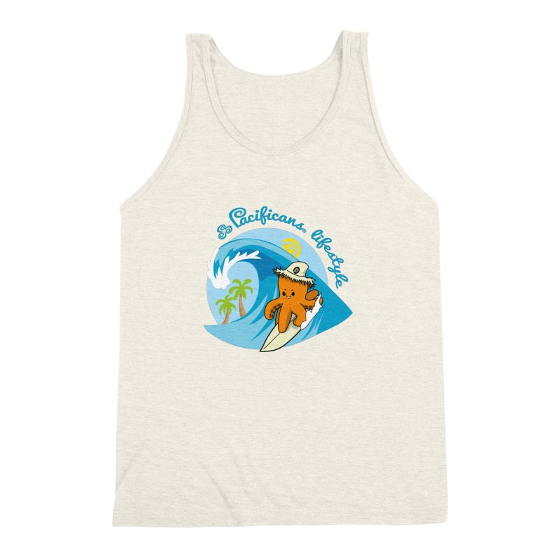 Heke Surfin' Men's Triblend Tank by Pacificans' Artist Shop