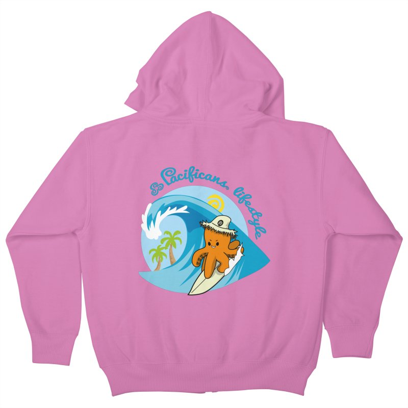 Heke Surfin' Kids Zip-Up Hoody by Pacificans' Artist Shop