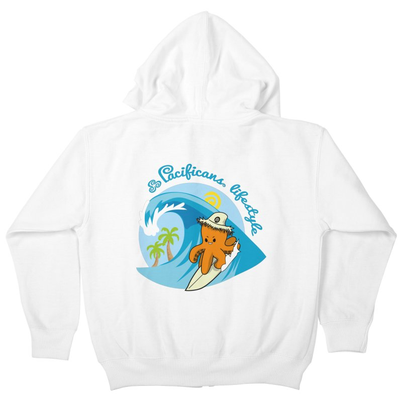 Heke Surfin' Kids Zip-Up Hoody by Pacificans' Artist Shop