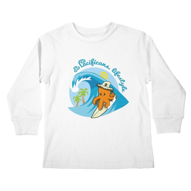 Heke Surfin' Kids Longsleeve T-Shirt by Pacificans' Artist Shop