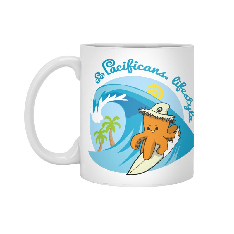 Heke Surfin' Accessories Standard Mug by Pacificans' Artist Shop