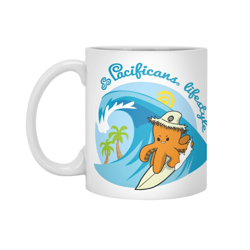 Heke Surfin' Accessories Mug by Pacificans' Artist Shop