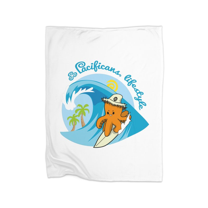 Heke Surfin' Home Fleece Blanket Blanket by Pacificans' Artist Shop